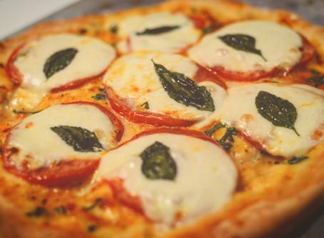 Pizza Margarita en Florencia, Italia.