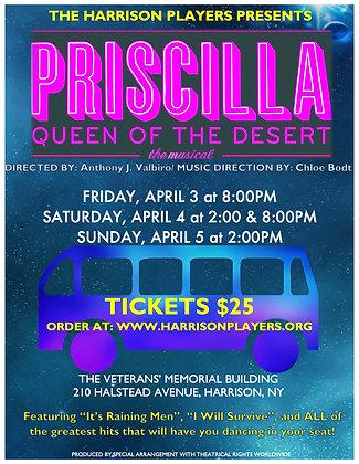 Quarter Page Ad for Priscilla Program