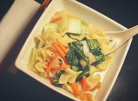 Sopa de Pollo- Inspiración asiática