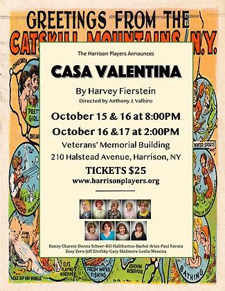 Quarter Page Ad for CASA VALENTINA Program