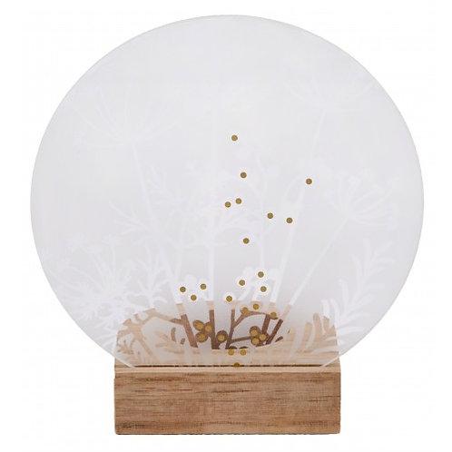 Räder - Glass poetry tealight meadow