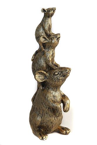 Decoratie muizen goud