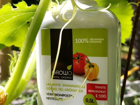 GROWO Vermicompost Extract nourishes plants (collaboration with Luomulaakso blog)