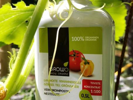 GROWO Vermikompostinuute ravitsee kasveja (blogiyhteistyö Luomulaakson kanssa)