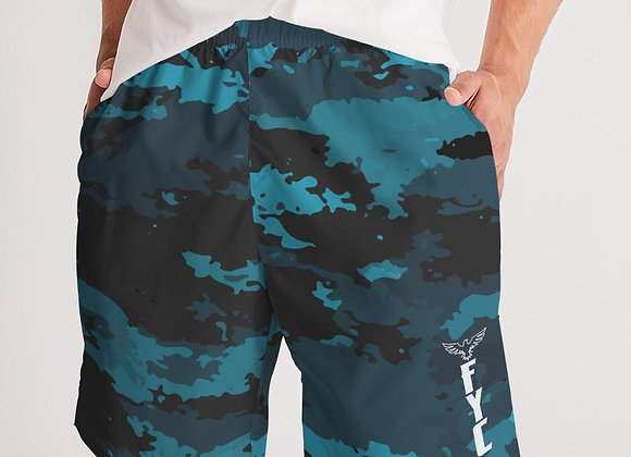 Men's Coast Camo Ocean Lightweight Windbreaker Jogger Shorts