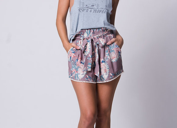 Madison Floral High Waist Short