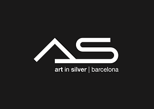 Logo As art in silver Barcelona