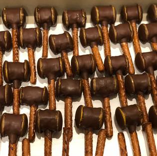 Gavel Cake Pops