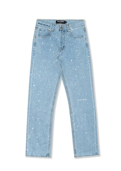 'Splatter' Lasered Jeans - Light Blue