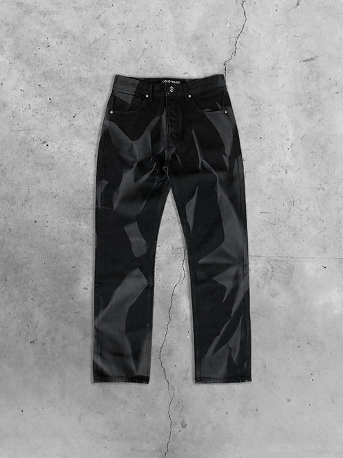 'CRUMPLED' LASERED JEANS