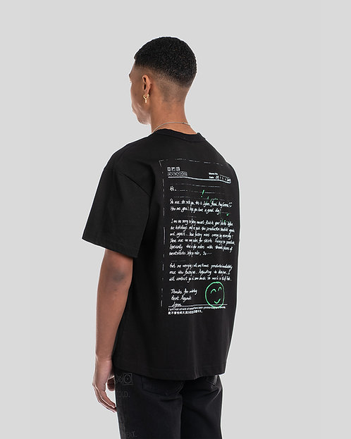 'APOLOGY LETTER' HEAVYWEIGHT T-SHIRT