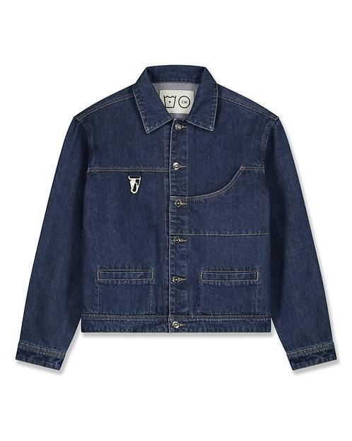 Cropped Denim Jacket - Dark Blue