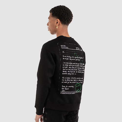 'APOLOGY LETTER' SWEATSHIRT