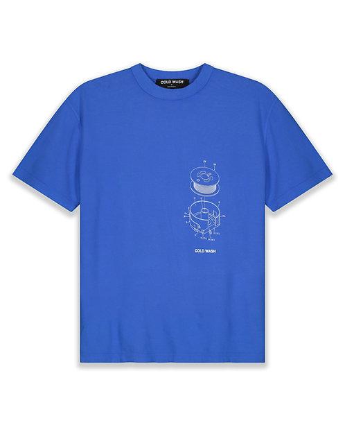 Bobbin Case Mechanism T-Shirt - Blue