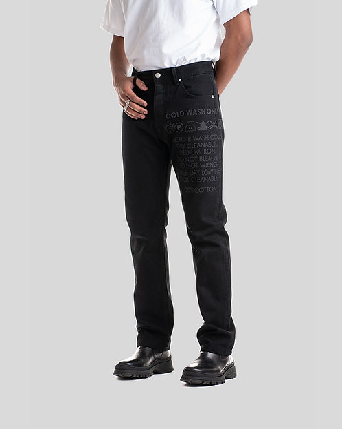 LASERED JEANS 2.0 BLACK