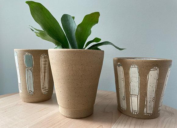 speckle brown planter vase 1