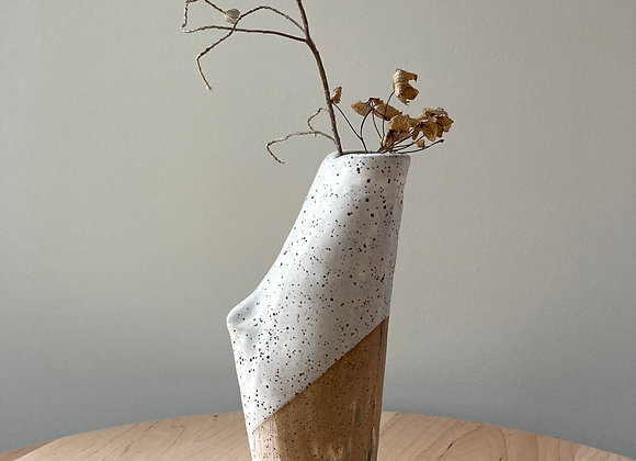 flock vase speckle