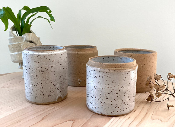 candle speckle white PRE ORDER