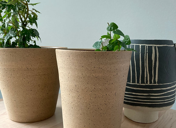 speckle brown planter vase 3