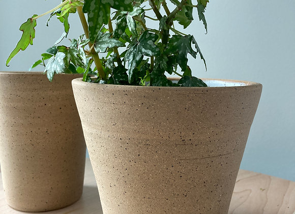 speckle brown planter vase 2