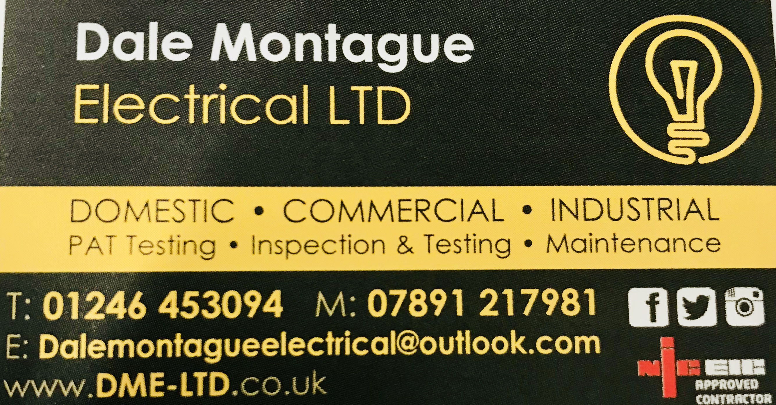 Dale Montague Electrical Card