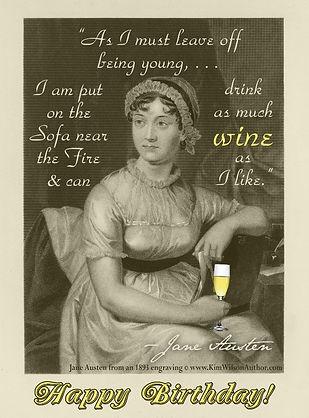 Jane Austen Free E-card Birthday Card