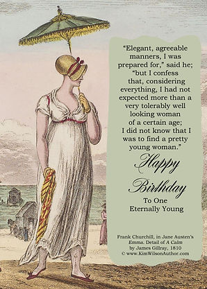 Jane Austen Free E-card Birthday Card