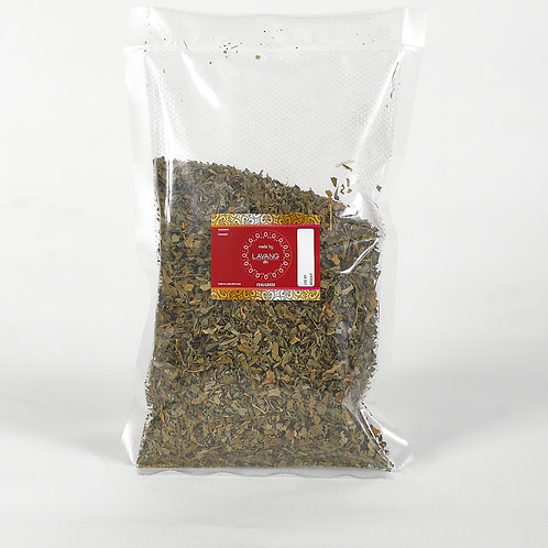 Front view, red branded label, fenugreek