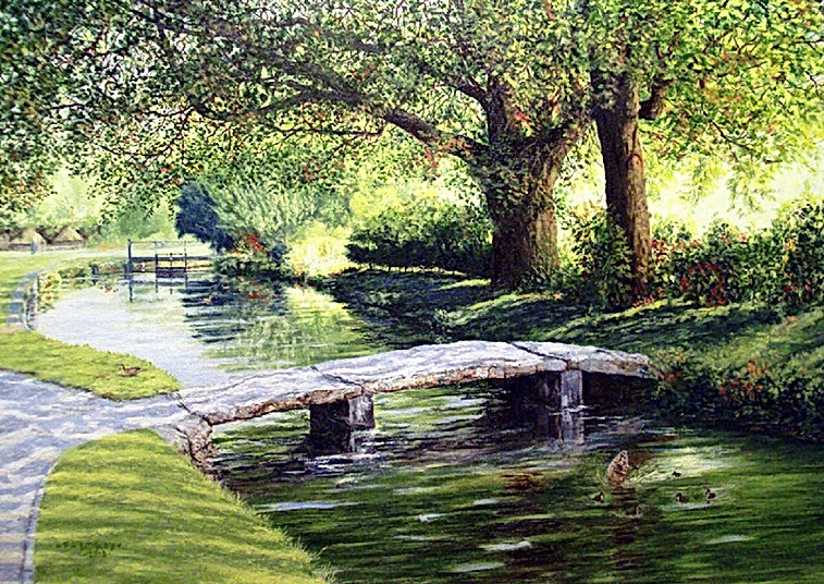 Stone Bridge at Lower Slaughter 17 x 24i