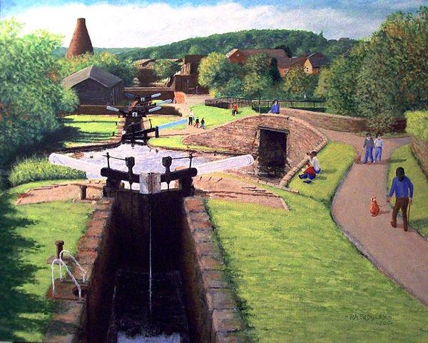 Canal to Cone III      16 x 20  acrylic