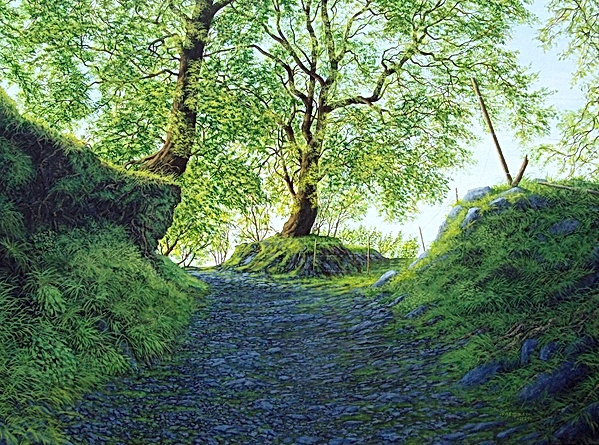 Pathway II   acrylic on box canvas    60