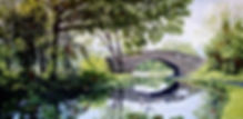 Middle Bridge   12 x 24ins    oils on bo