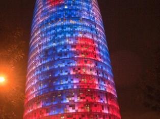 像安全套的建築—Torre Agbar