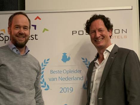 HSA tweede plaats Beste SALES Opleider Van NL 2019!