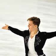 Jonathan Hess performing his free program at the 2020 Bavarian Open.