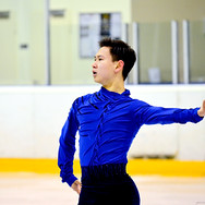 Denis Ten during the free skating at the Coupe du Printempts 2016.