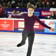 Vladislav Katichev during the short program at the Russian National Championships 2020.  Владислав Катичев в короткой программе на Чемпионате России 2020.
