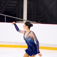 Gabriella Izzo performing her free program at the ISU Junior Grand Prix Riga 2019.