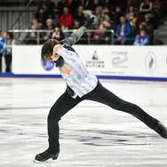 Anton Shulepov during his free skating at the Russian National Championships 2020.  Антон Шулепов в произвольной программе на Чемпионате России 2020.