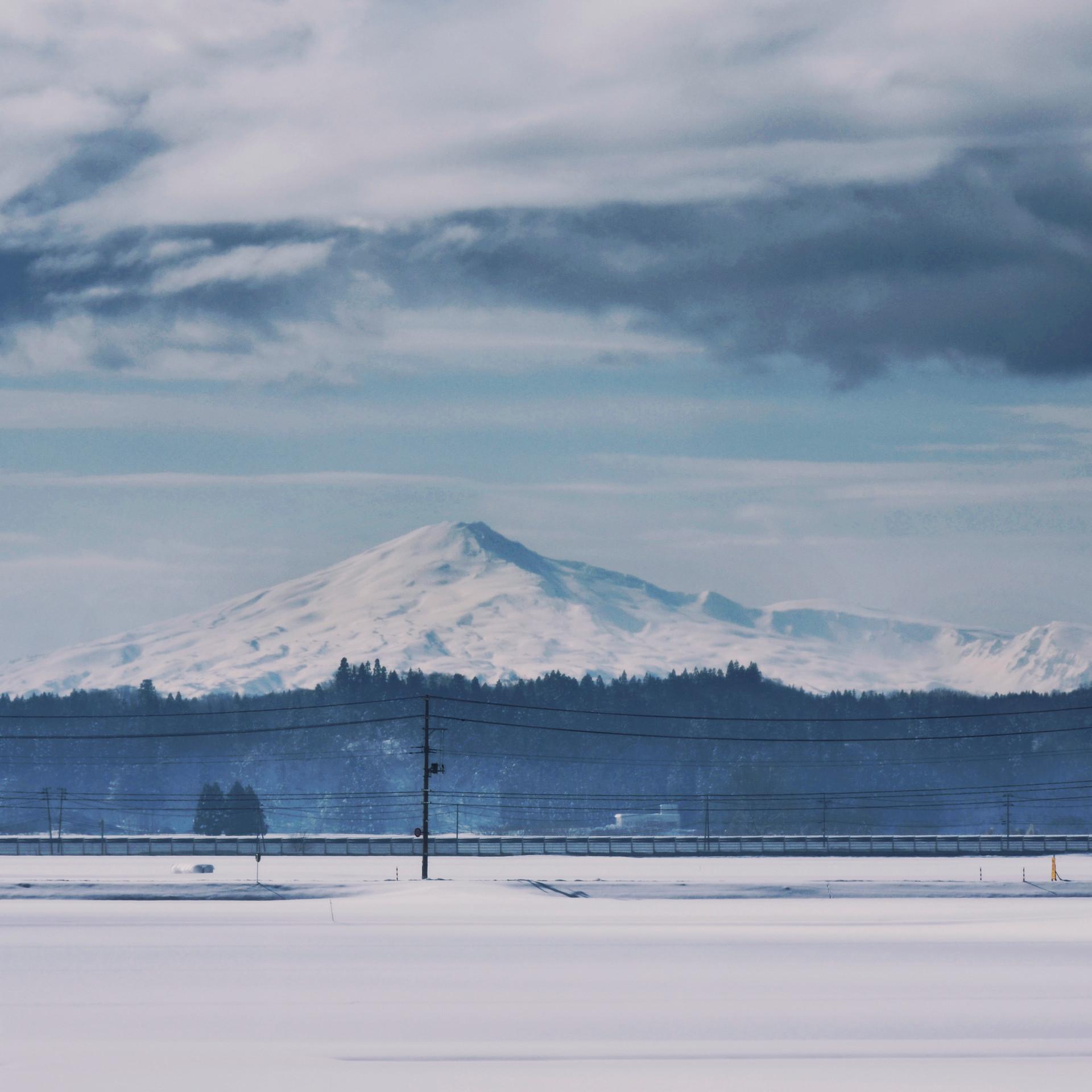 View from the train: Mount Chokai