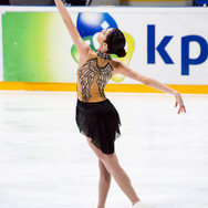 Valentina Matos during the short program at the Challenge Cup 2019.