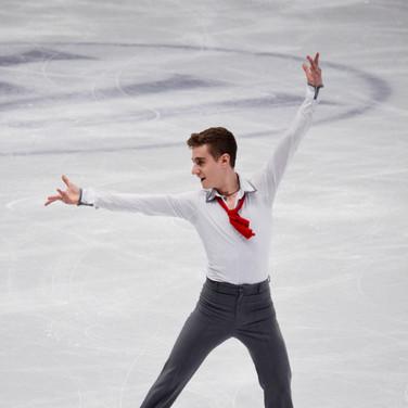 Matteo Rizzo performing his short program at the ISU World Championships 2018.