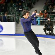 Makar Ignatov during the short program at the Russian National Championships 2020.  Макар Игнатов в короткой программе на Чемпионате России 2020.