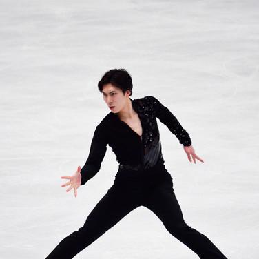 Keiji Tanaka performing his short program at the ISU World Championships 2018.