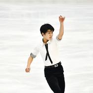 Shun Sato performing his short program at the 2020 Bavarian Open.
