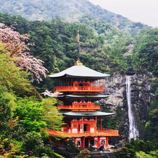 Kumano Nachi Taisha and Nachi Falls.