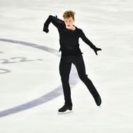 """Ilya Yablokov performing his free skating at the Rostelecom Cup 2020.   Илья Яблоков в произвольной программе на ИСУ Гран-при """"Кубок Ростелеком"""" 2020."""