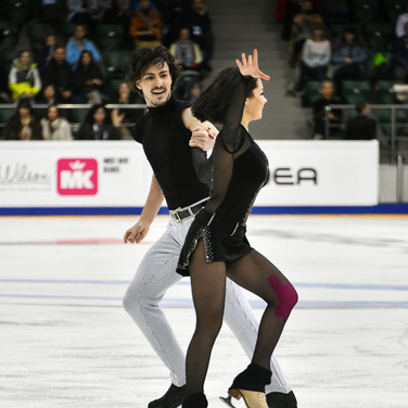 Anastasia Shpilevaya / Grigory Smirnov during their free dance at the Russian National Championships 2020.  Анастасия Шпилевая / Григорий Смирнов в произвольном танце на Чемпионате России 2020.
