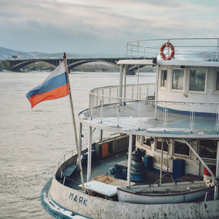 Yenisei river.   Енисей.