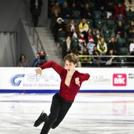 Andrei Lazukin during his free skating at the Russian National Championships 2020.  Андрей Лазукин в произвольной программе на Чемпионате России 2020.